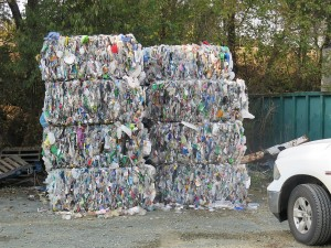 Plastic Bales Ready for Recycling