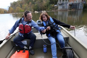 Monitoring oxygen levels at South Fork Reservoir Photo/Andrew Shurtleff