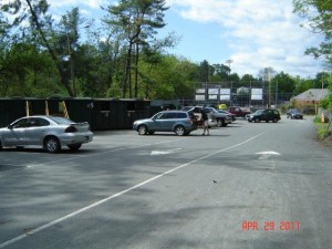 McIntire Recycling Center view of cars